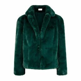 KEEPSAKE Stay With Me Emerald Faux-fur Coat