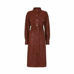 Kitri Jacqueline Vegan Leather Shirt Dress