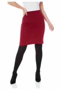 Ponte Straight Skirt