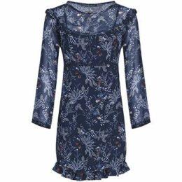 Mado Et Les Autres  Bohemian spirit floral dress  women's Dress in Blue