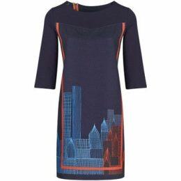 Mado Et Les Autres  Printed straight dress  women's Dress in Blue