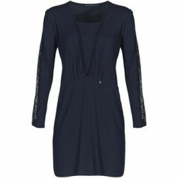 Mado Et Les Autres  Comfortable dress, long sleeves  women's Dress in Blue