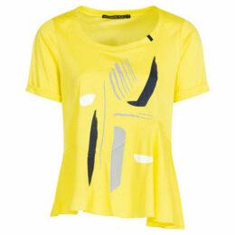 Mado Et Les Autres  Cotton knit t-shirt  women's T shirt in Yellow