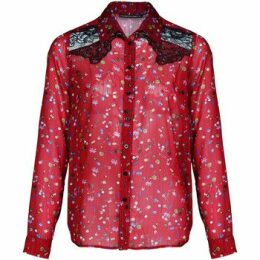 Mado Et Les Autres  Western cut shirt printed with playful rock symbols  women's Shirt in Red