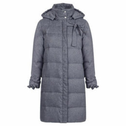Mado Et Les Autres  Quilted long down jacket  women's Parka in Grey