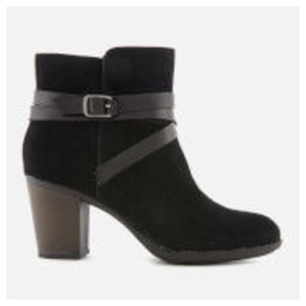 Clarks Women's Enfield Coco Suede Heeled Ankle Boots - Black