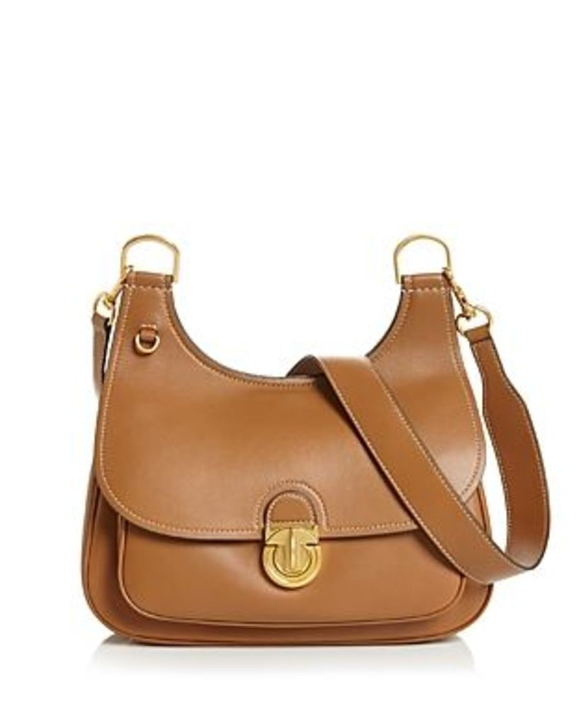 Tory Burch James Medium Leather Saddle Bag