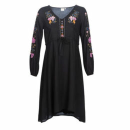 Cream  GIGI  women's Dress in Black