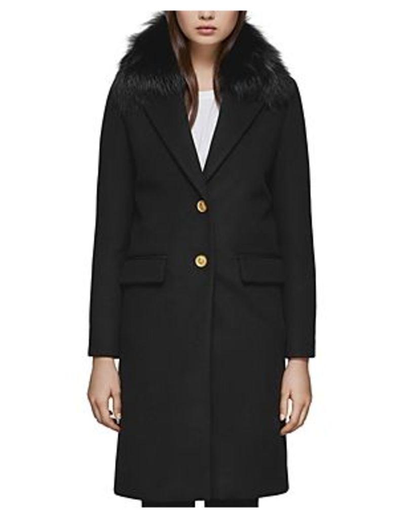 Mackage Henrita-x Fur Trim Tailored Coat