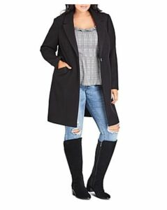 City Chic Plus Bromley Snap-Front Coat