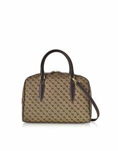 Gherardini Designer Handbags, Millerighe Signature Satchel Bag