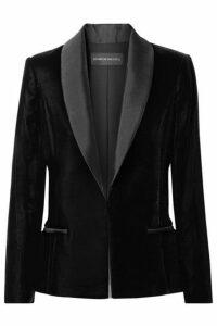 Brandon Maxwell - Satin Twill-trimmed Velvet Blazer - Black