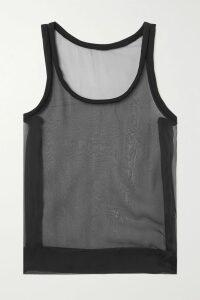 Alexander Wang - Velvet-trimmed Tweed And Scuba Mini Skirt - Black