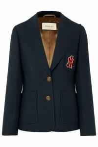 Gucci - + New York Yankees Appliquéd Wool And Silk-blend Cady Blazer - Blue