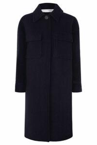 Victoria, Victoria Beckham - Wool-blend Coat - Navy