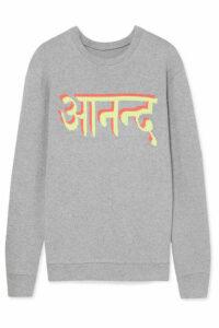The Elder Statesman - Intarsia Cashmere Sweater - Gray