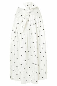 Ulla Johnson - Aglae Bow-detailed Embroidered Taffeta Midi Skirt - White