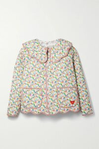 Christopher Kane - Tie-detailed Embroidered Stretch-chantilly Lace Bodysuit - Black