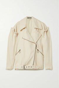 Prada - Wrap-effect Pleated Shell Skirt - Pink