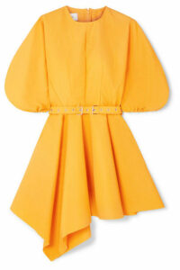 Marques' Almeida - Belted Asymmetric Faille Mini Dress - Yellow