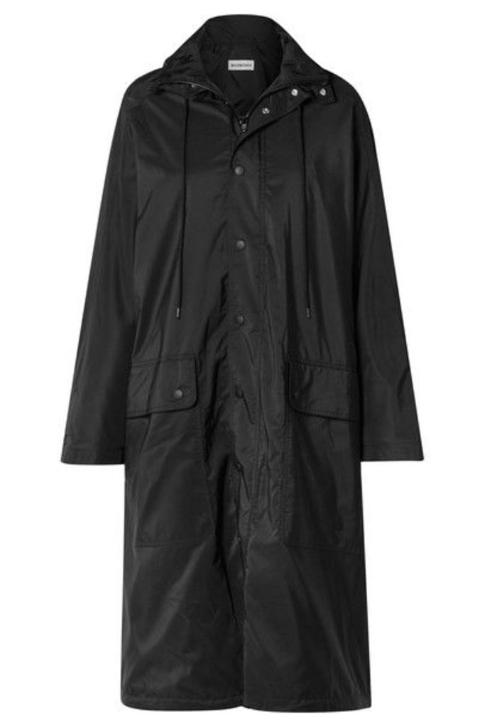 Balenciaga - Opera Oversized Printed Reflective Shell Raincoat - Black