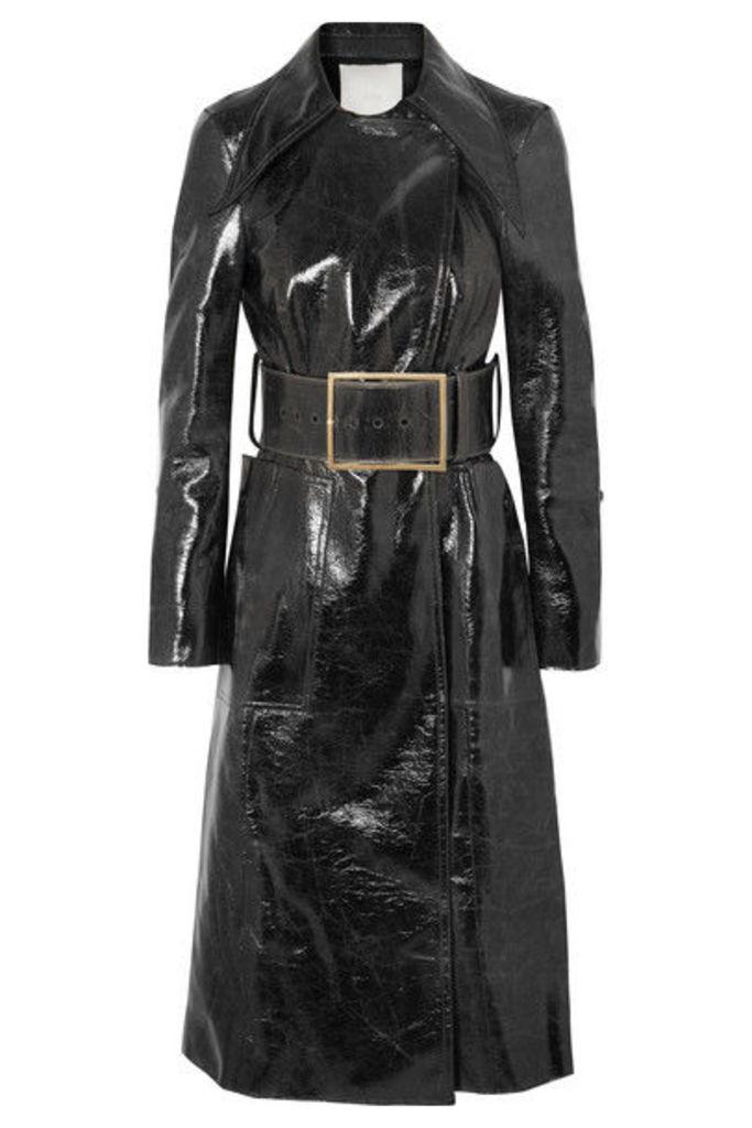 RUH - Coated Wool-blend Trench Coat - Black