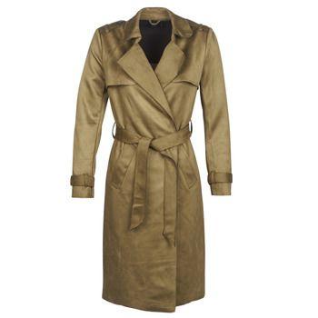 Only  ONLRIBA  women's Trench Coat in Green