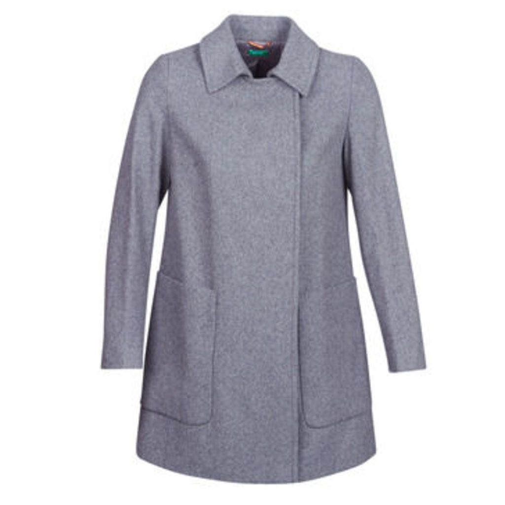 Benetton  MOUNAK  women's Coat in Grey