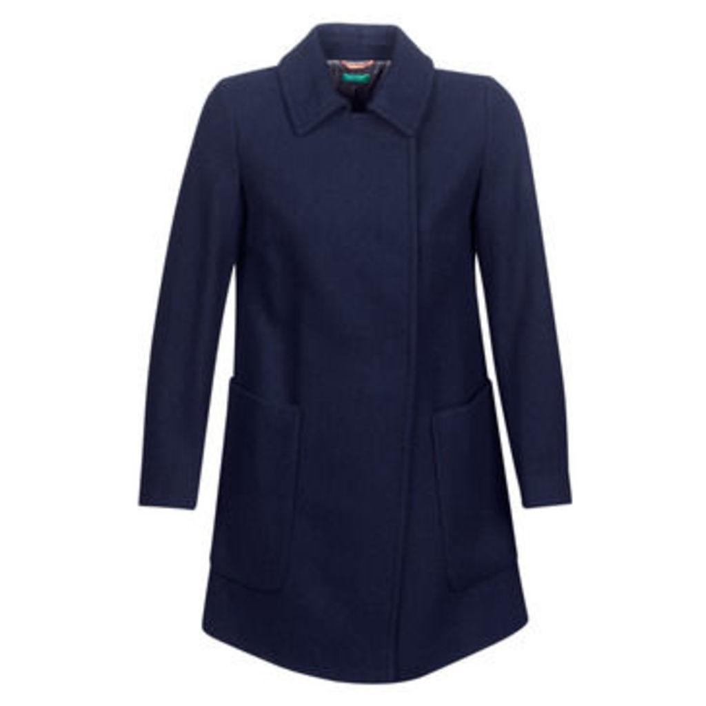 Benetton  MOUNAK  women's Coat in Blue