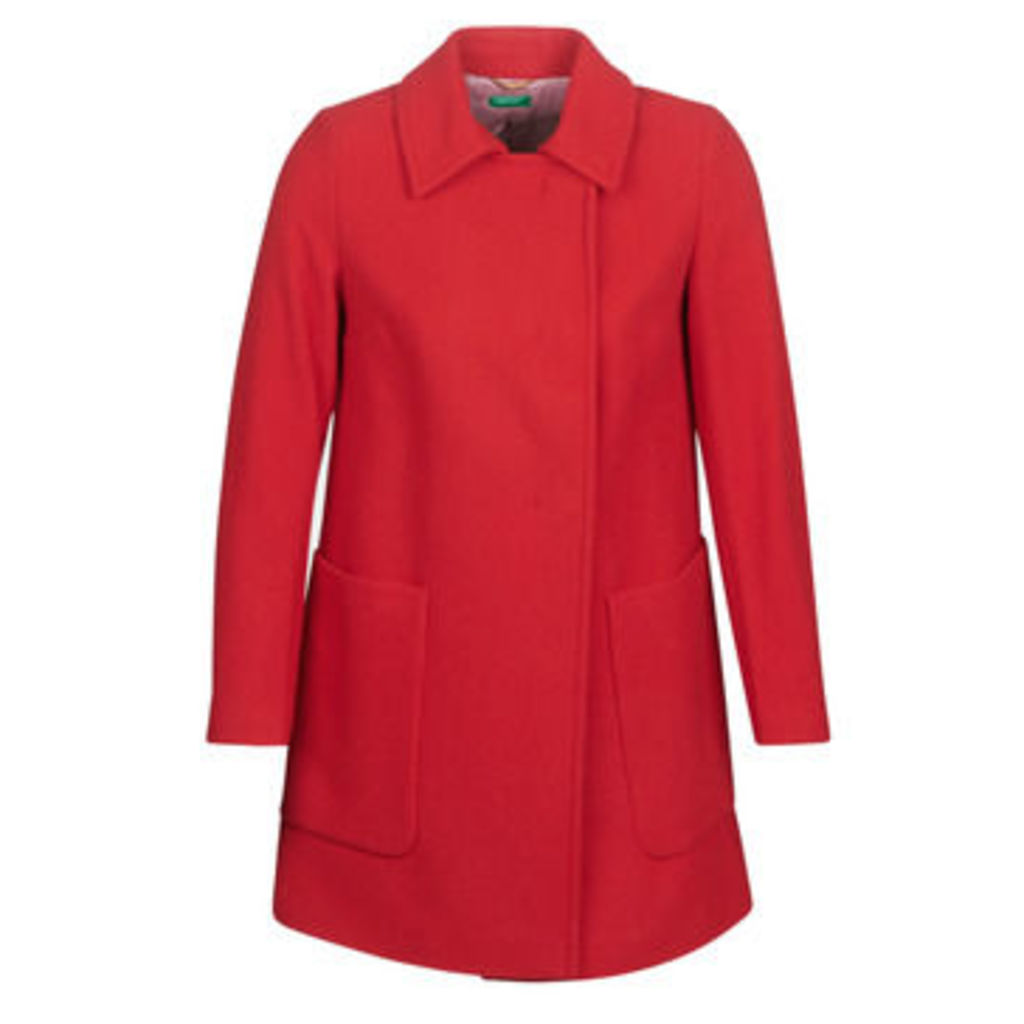 Benetton  MOUNAK  women's Coat in Red