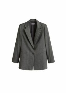 Flecked suit blazer