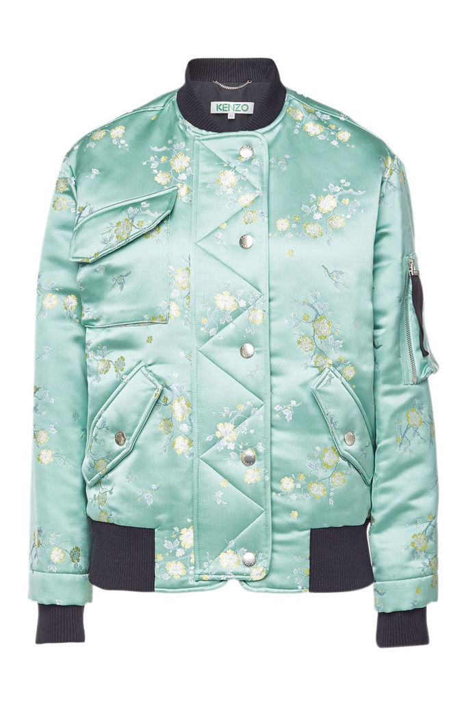 Kenzo Printed Satin Bomber Jacket