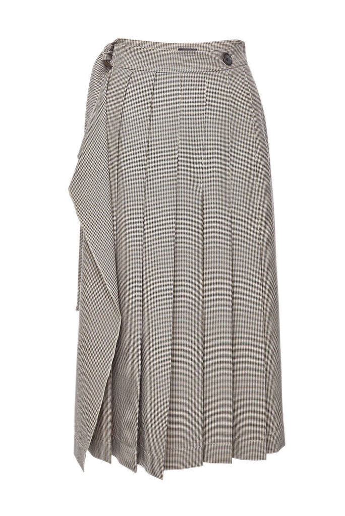 Joseph Pleated Skirt with Virgin Wool