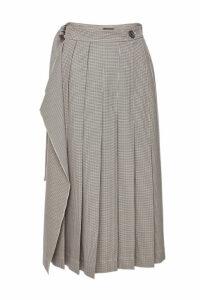 Joseph Pleated Skirt with Virgin Wool