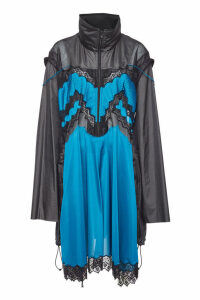 Maison Margiela Embroidered Raincoat with Mesh