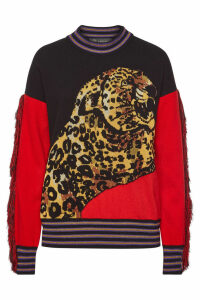 Versace Printed Pullover with Wool and Cashmere