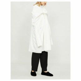 Cape-panel cotton-poplin shirt