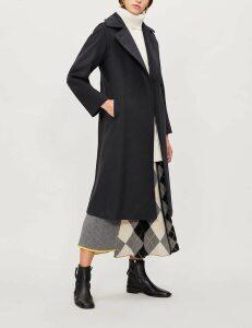 Max Mara Ladies Navy Classic Manuela Camel-Hair Wrap Coat