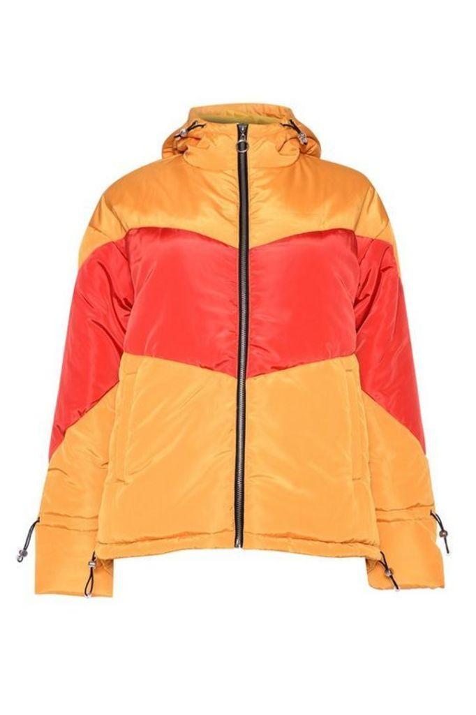 Womens **Colour Block Jacket By Glamorous - Multi, Multi