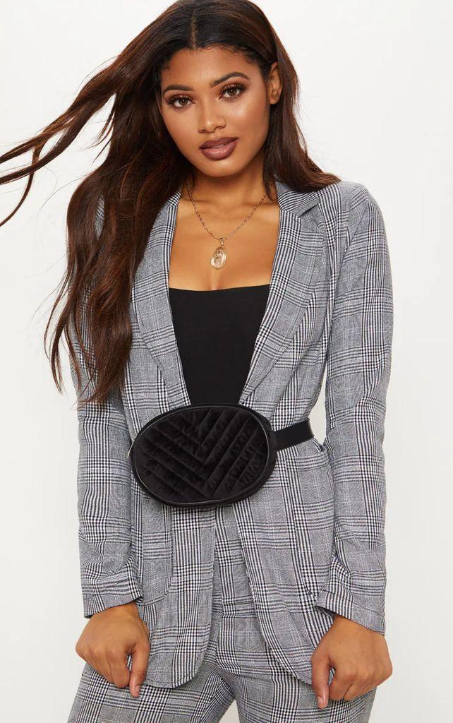 Tall Grey Checked Blazer, Grey