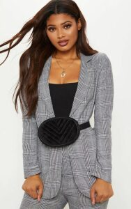 Tall Grey Checked Blazer, Grey