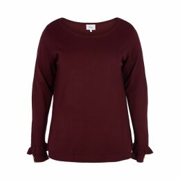 Jumper with Long Ruffled Sleeves