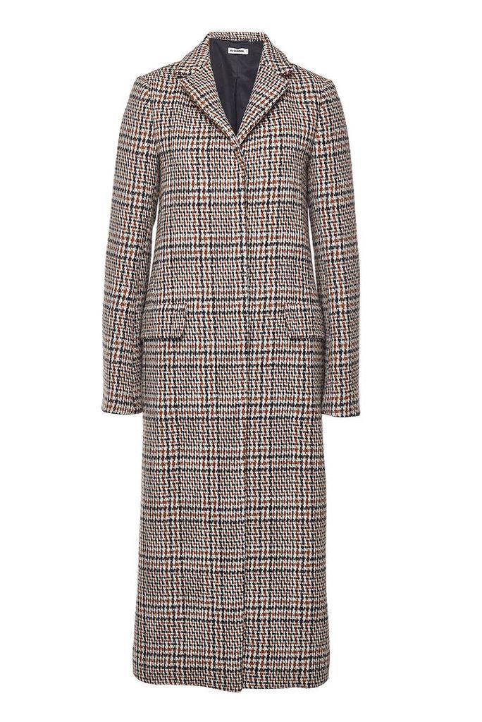 Jil Sander Filadefia Printed Fleece Wool Coat