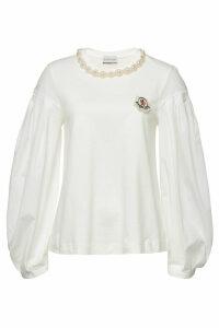 Moncler Genius 4 Moncler Simone Rocha Cotton Top with Embellishment