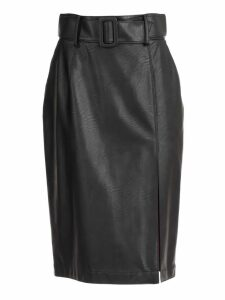 Sara Battaglia Wet-look Pencil Skirt