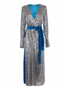 Attico Sequin Wrap Dress