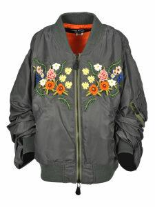 Junya Watanabe Junya Watanabe Oversized Floral Embroidered Bomber Jacket