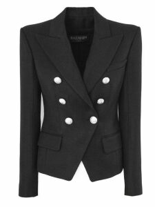 Balmain Black Fabric Blazer.