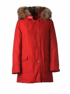 Woolrich Red Winter Parka