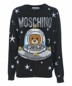 Teddy Logo Print Sweater